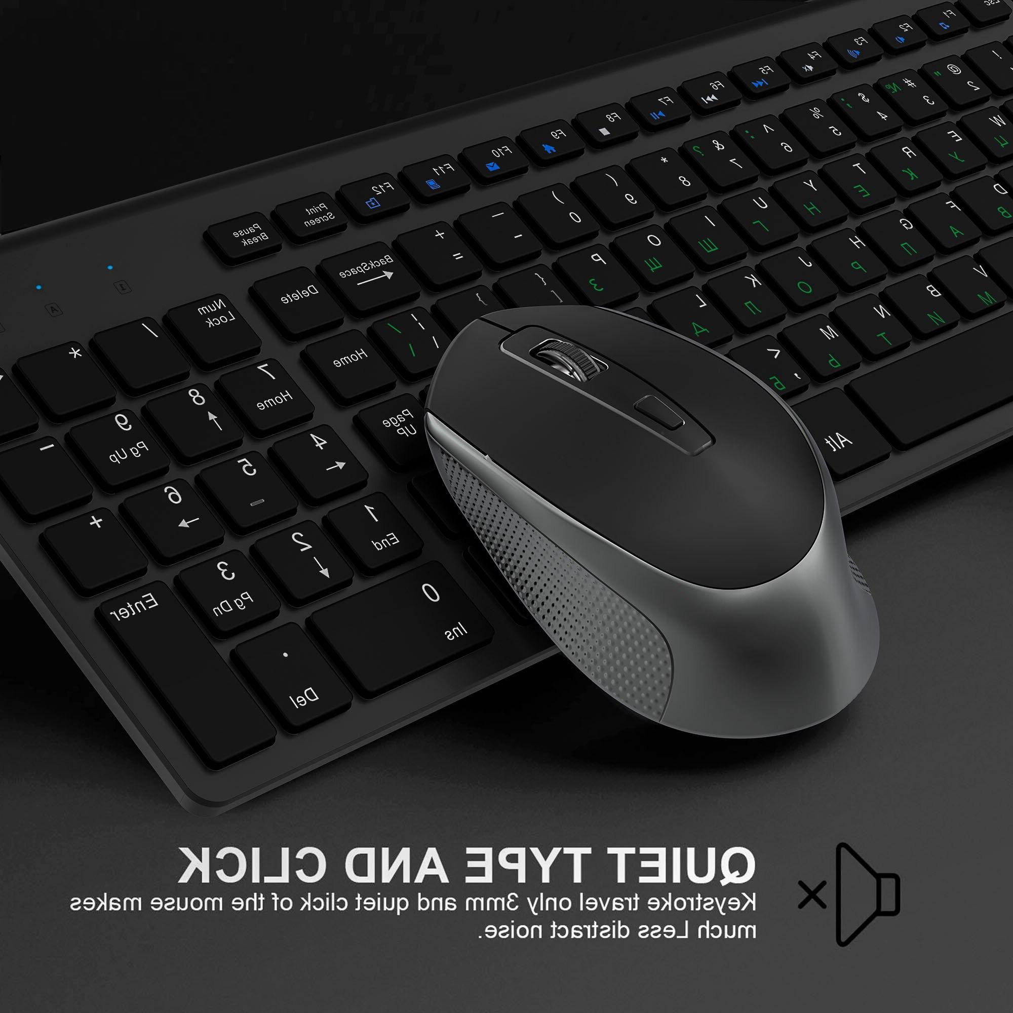 <font><b>JOYACCESS</b></font> <font><b>Wireless</b></font> <font><b>Keyboard</b></font> Mouse Set Ergonomic PC <font><b>Keyboard</b></font> 2.4G