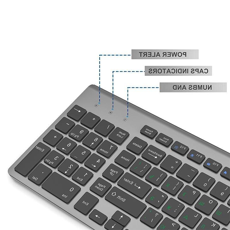 <font><b>JOYACCESS</b></font> Russian Mouse Set Ergonomic PC Silent <font><b>Keyboard</b></font> and 2.4G