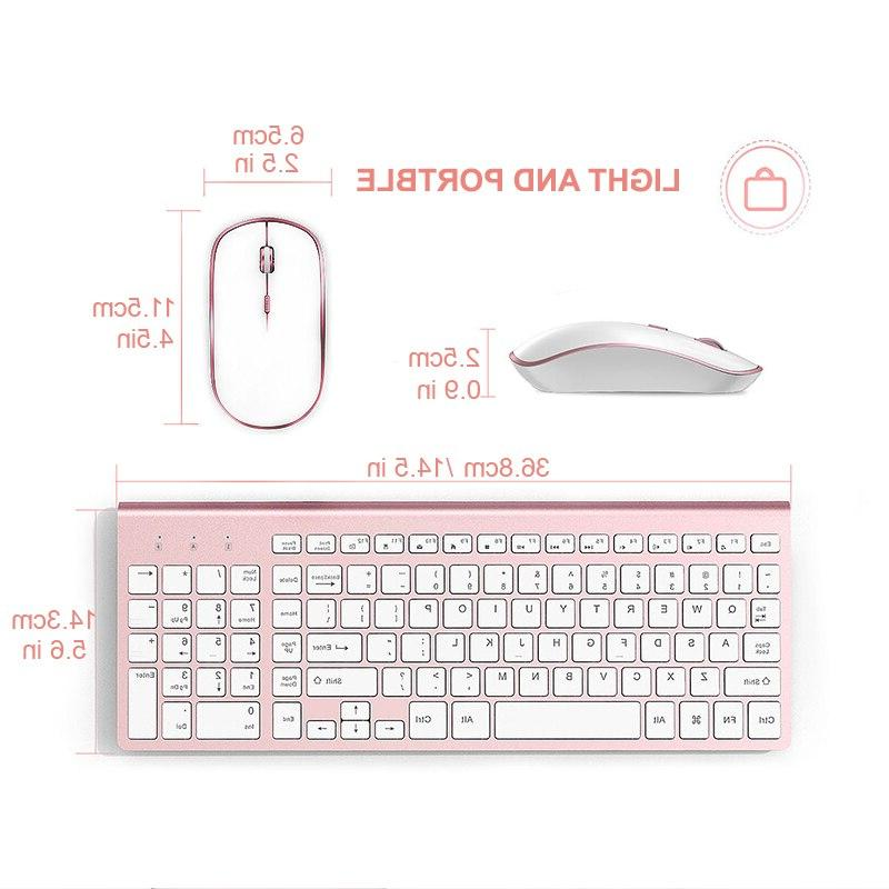 <font><b>JOYACCESS</b></font> Thin Computer <font><b>Keyboard</b></font> <font><b>Mouse</b></font> Set Silent <font><b>Wireless</b></font> <font><b>Keyboard</b></font> <font><b>Mouse</b></font> <font><b>Wireless</b></font> for Office