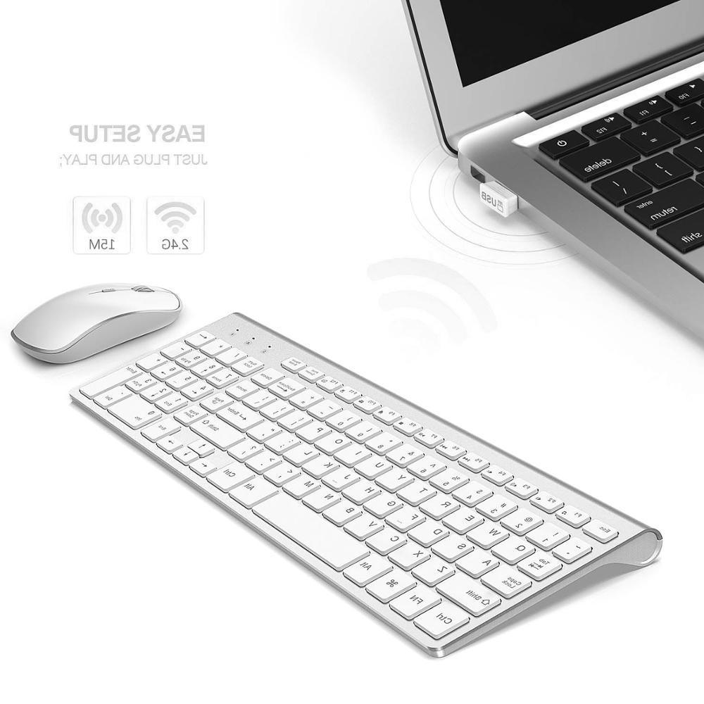 <font><b>JOYACCESS</b></font> <font><b>Keyboard</b></font> Mouse Silent Buttons <font><b>Wireless</b></font> <font><b>Keyboard</b></font> Mouse for Win XP/7/10