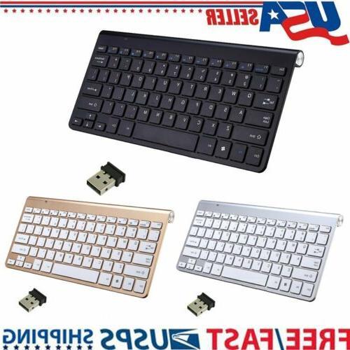 Full Size Slim USB Wireless Keyboard with 78 keys For Mac La