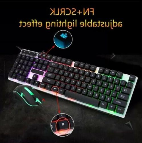 Gaming Keyboard Mouse Wired Keyboard Wireless Mouse