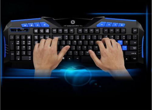 Gaming 2.4G Keyboard and Mouse Set for Computer Multimedia Gamer