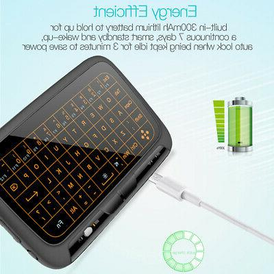 2.4G Wireless Keyboard Touchpad Backlight Keyboard with Larg