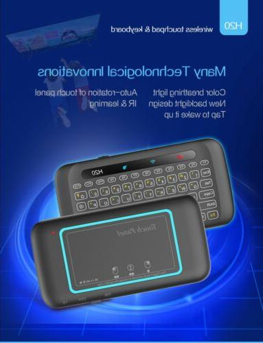 h20 wireless mini keyboard two sided touch