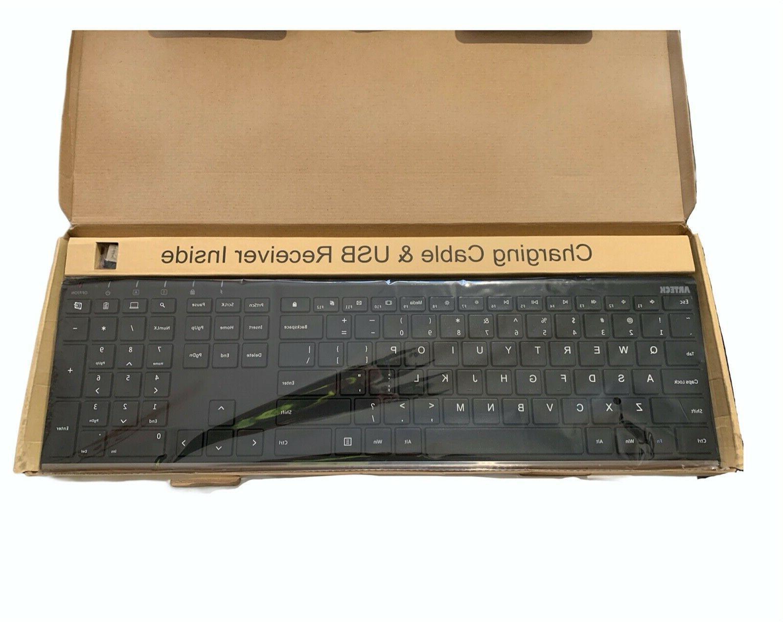 Arteck HW192 Wireless Keyboard Universal Slim Size