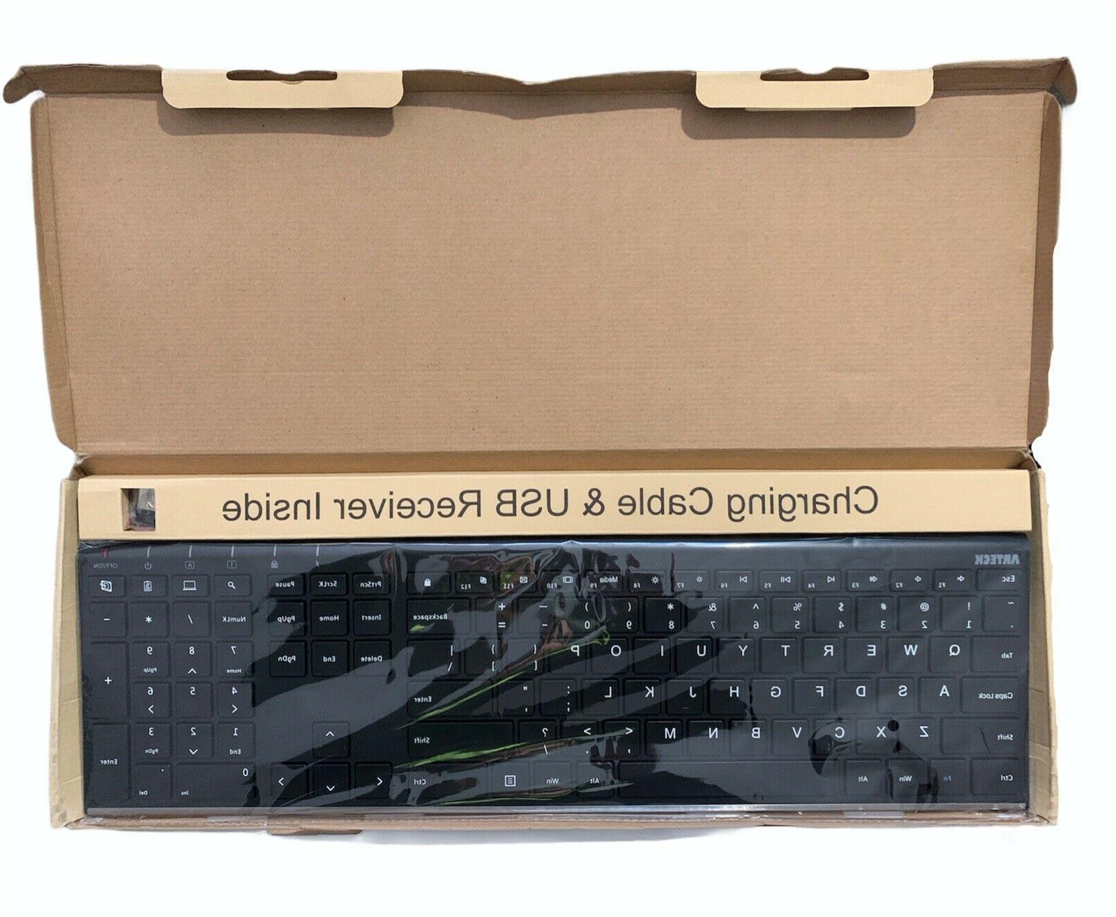 Arteck Keyboard Universal Slim Full
