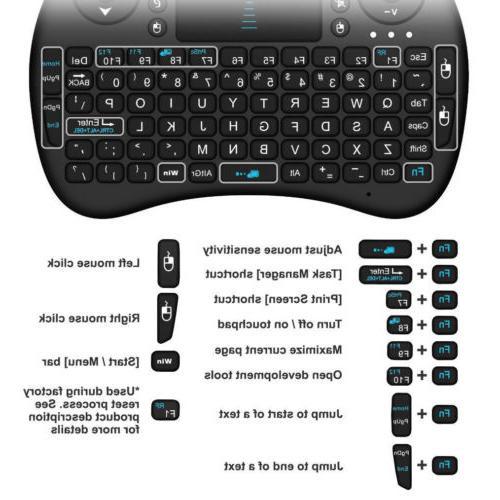 Rii 2.4GHz Mini Wireless Keyboard PC