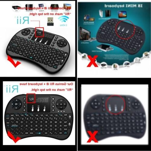 Rii i8+ Wireless Keyboard Mouse with Backlight TV