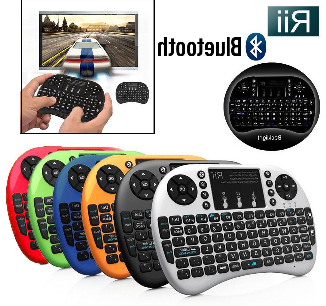 i8 bt mini wireless bluetooth backlight touchpad