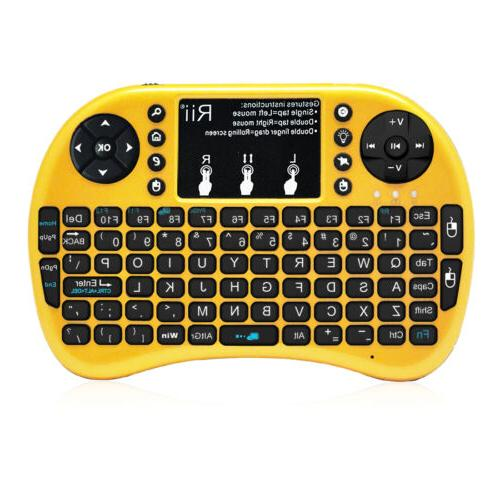 Rii i8+ gold wireless keyboard with touchpad  BACKLIT for PS
