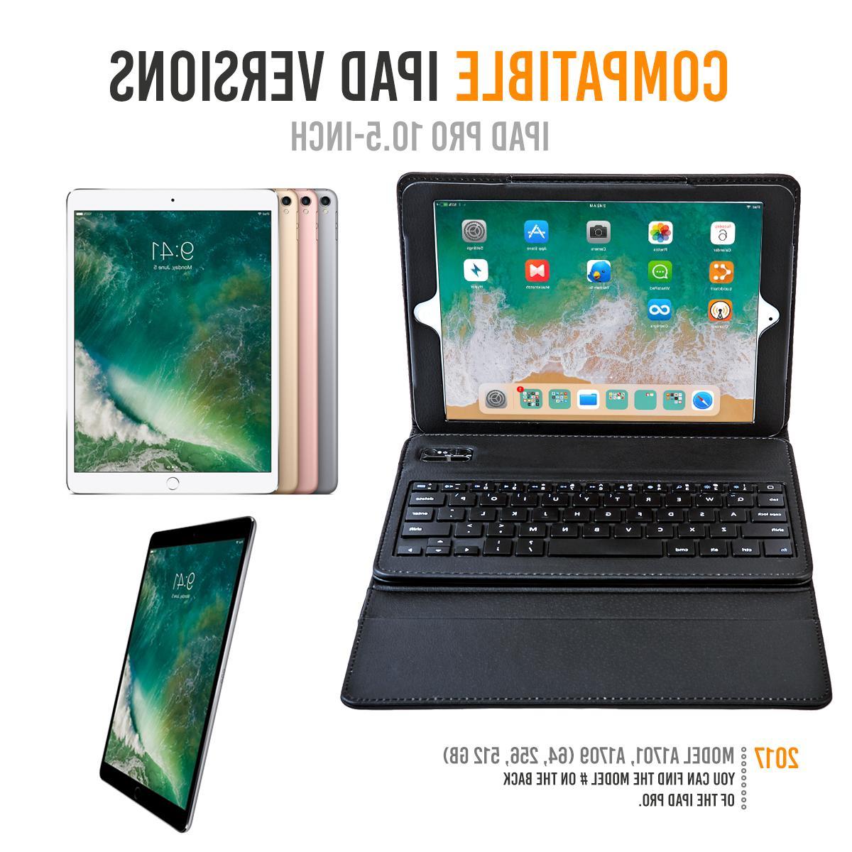 iPad Keyboard Wireless Leather Cover