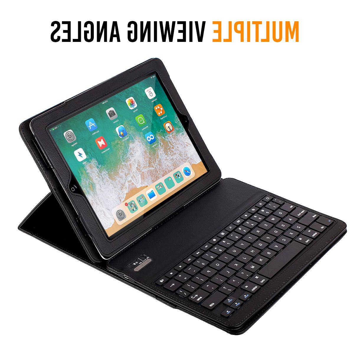 iPad Pro Bluetooth Keyboard Case Detachable Leather Folio