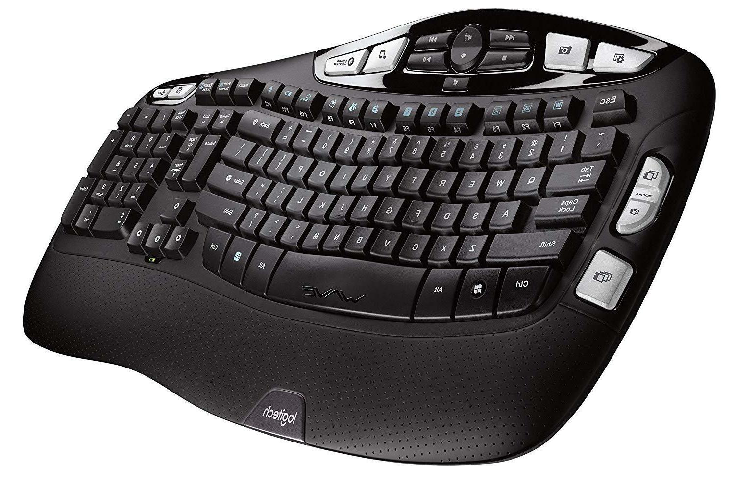 Logitech 2.4Ghz Wave Ergonomic with RECEIVER