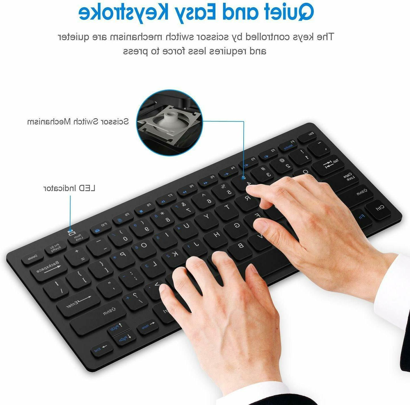 KEYBOARD 2.4G Ultra-Slim Keyboard USB Receiver Black