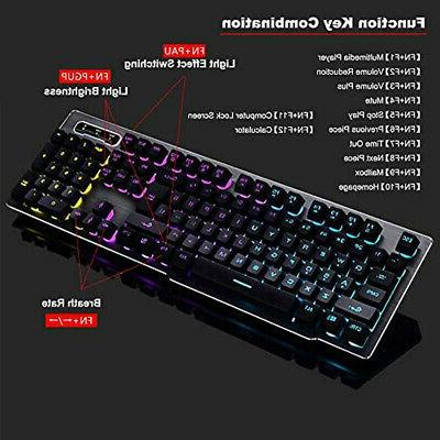 Keyboard Gaming Mouse Combo,Wireless 2.4G Technology,1000mAhLarge