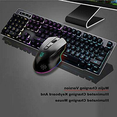Keyboard Gaming And Mouse Combo,Wireless Technology,1000mAhLarge