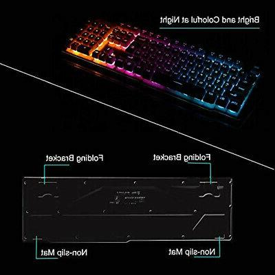 Keyboard Gaming Keyboards Mouse Combo,Wireless