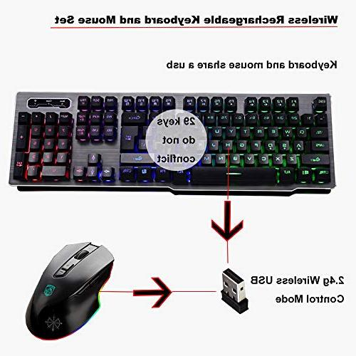 LexonElec Keyboard Combo,Wireless Keycap Gaming Keyboard
