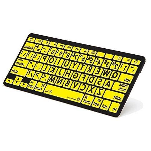 largeprint bluetooth black yellow keyboard