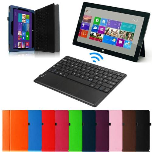 leather case cover w wireless bluetooth keyboard