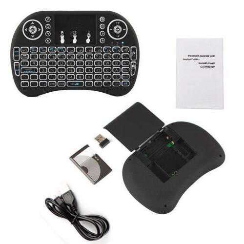 2.4GHz Backlit Keyboard Touchpad for Smart Tablet