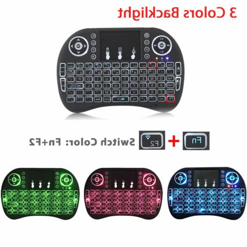 2 4g backlit wireless keyboard touchpad rechargeable