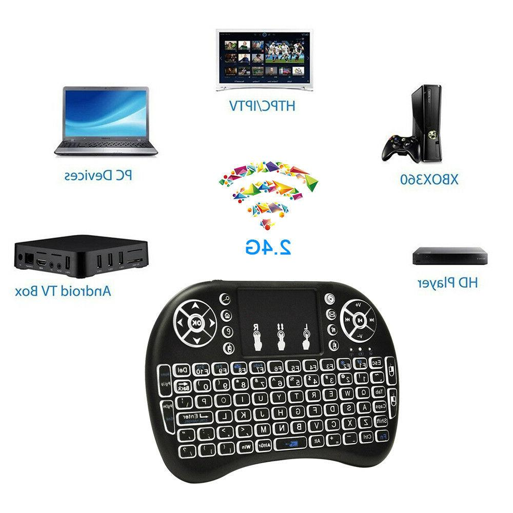 Mini 2.4G Wireless Keyboard With Touchpad PC Android Smart TV PS4