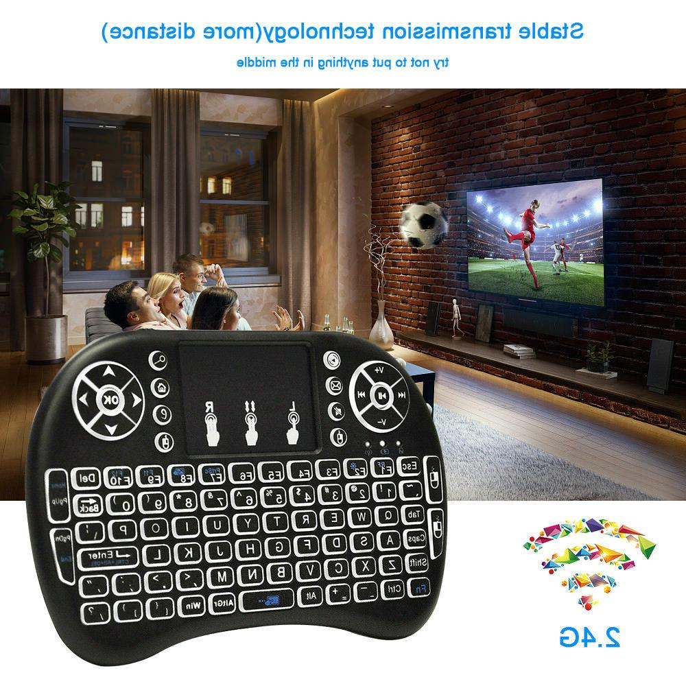 Mini 2.4G Wireless Backlit Keyboard PC Android Smart PS4