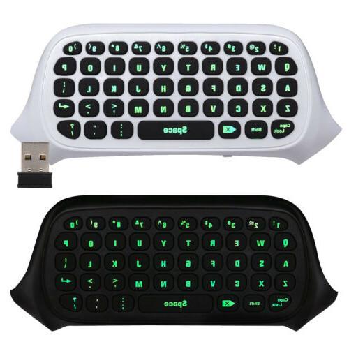 Mini Keyboard Xbox One, 2.4G Receiver Wireless Chatpad Messa