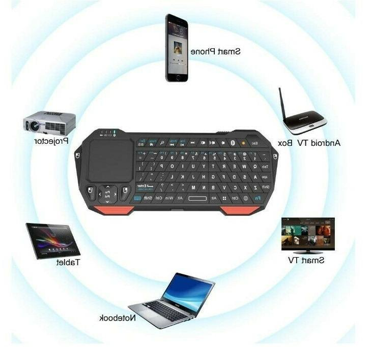Mini Portable Keyboard with Touchpad for Projector Windows