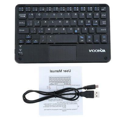 KKmoon 59 Keys Mini Bluetooth Keyboard with TouchPad Panel f