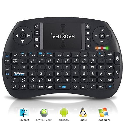 Proster Keyboard 2.4G Touchpad Mouse Multifunctional Wireless Keyboards Google Android TV BOX Pi HTPC Box IPTV