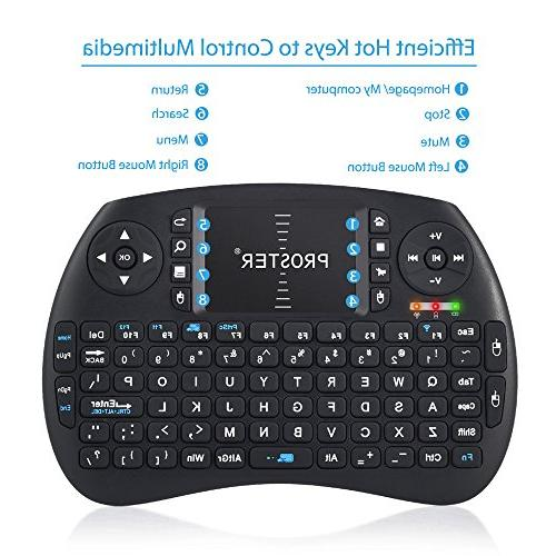 Proster Mini 2.4G Touchpad Mouse Wireless Keyboards for Google Android TV Raspberry Pi Box IPTV
