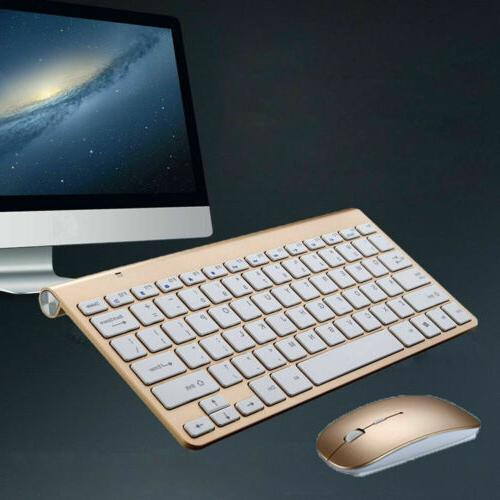 Mini USB 2.4G Wireless Keyboard Cordless Kit For PC Laptop