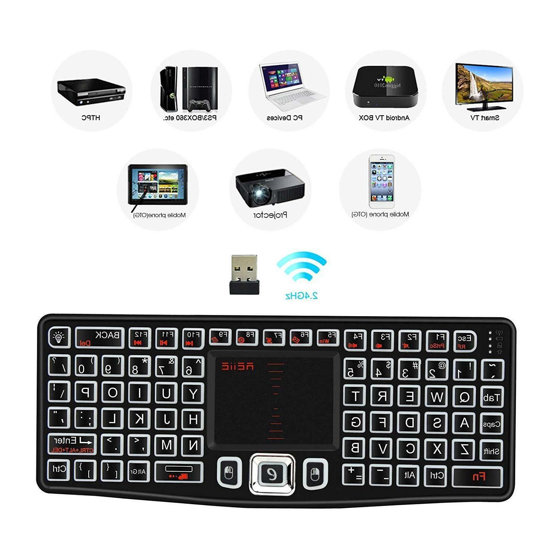 Mini Keyboard Mouse Touchpad TV Box