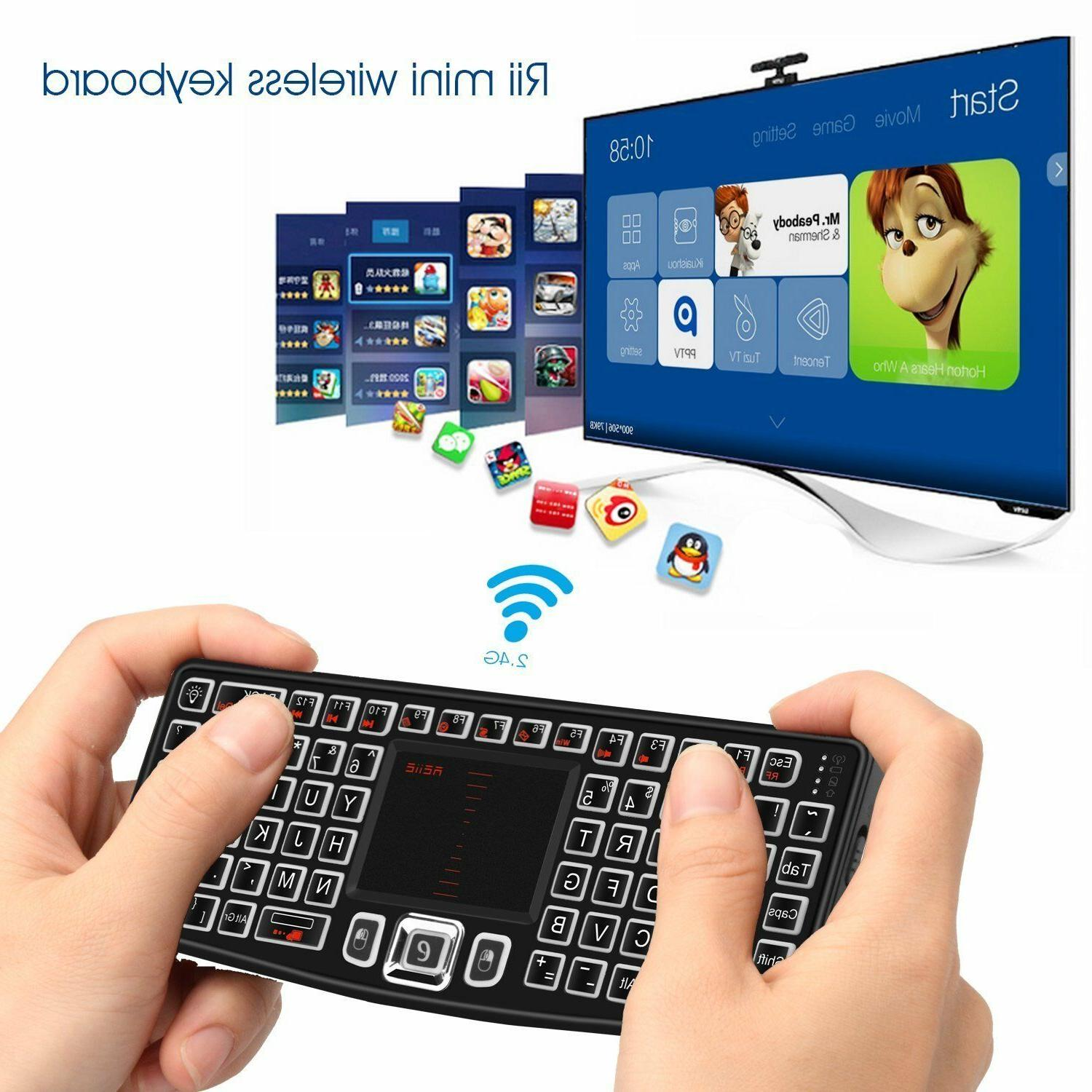 Mini Wireless Keyboard Mouse Touchpad Android TV Desktop