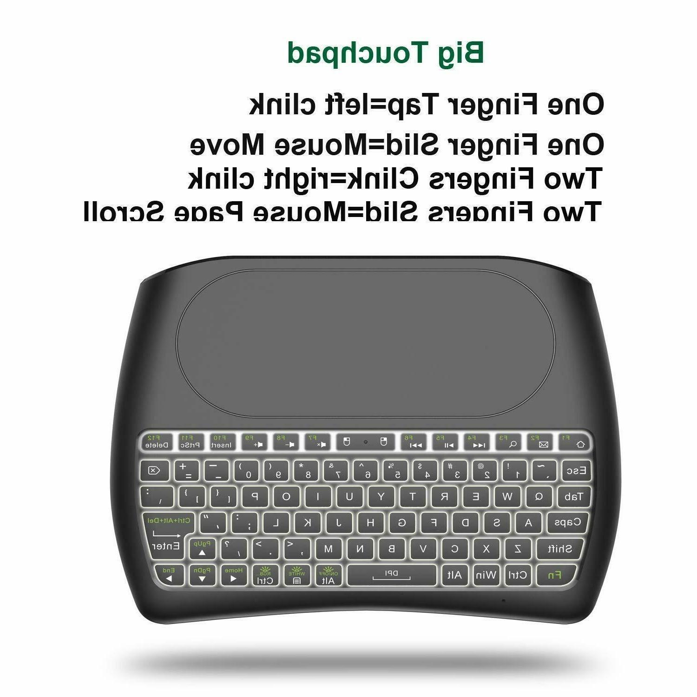 Mini Wireless Keyboard Large Touchpad Battery