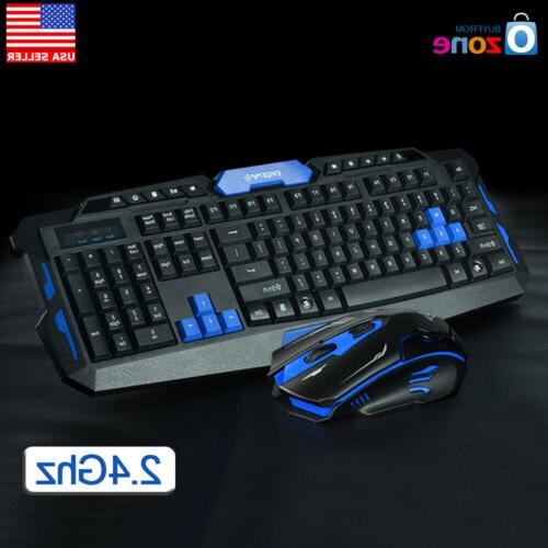 2.4GHz Multimedia Wireless Gaming Keyboard & Mouse Bundle Se