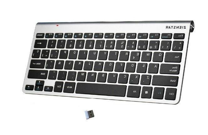 Mute 2.4G Apple Mac Style Spanish Keyboard Feet