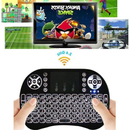 2.4GHz LED Keyboard for Smart TV Box Android Tablet