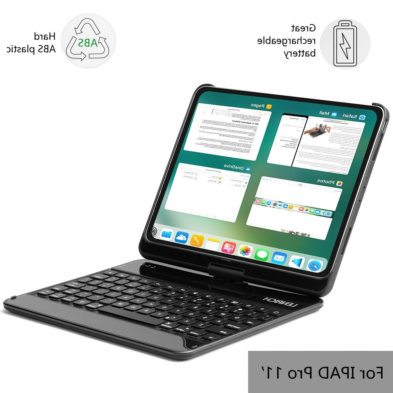 For iPad Pro 11 2018 backlit folio cover