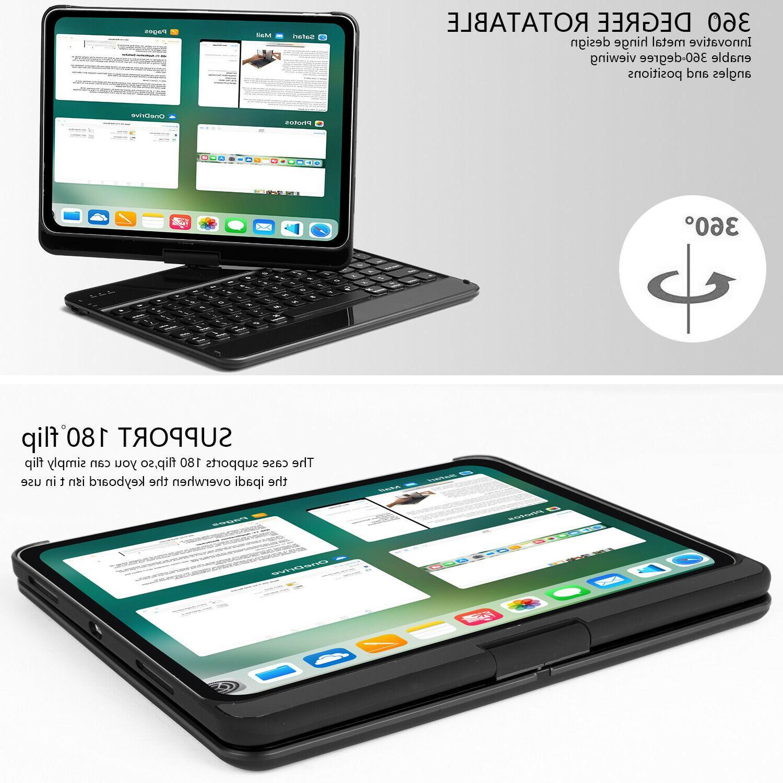 For Pro 2018 case keyboard backlit 360 cover