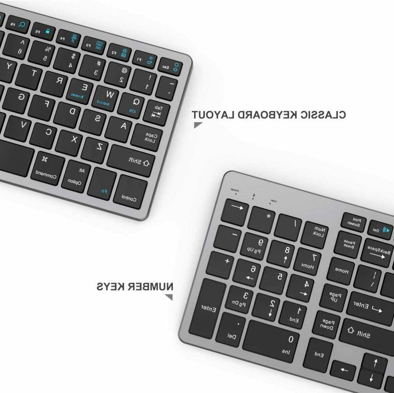 Rechargeable Keyboard, Jelly Comb Slim and gray