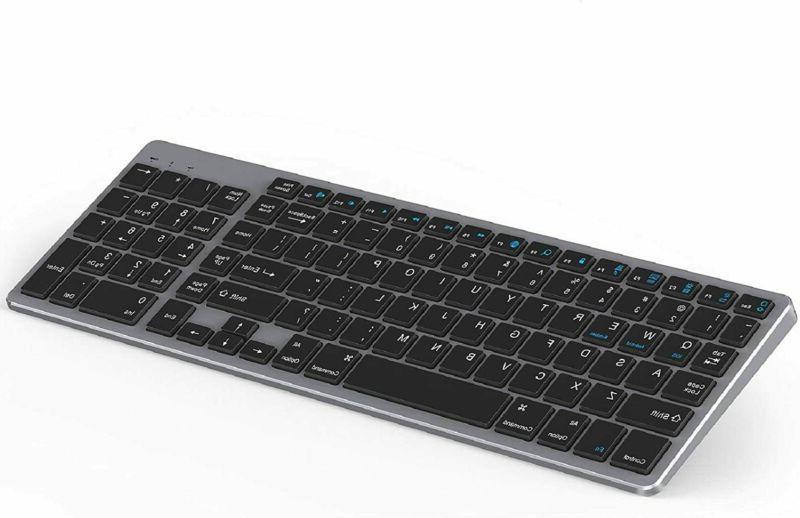 rechargeable bluetooth keyboard wireless slim black