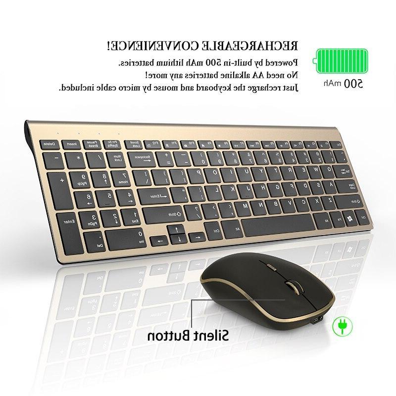 Rechargeable <font><b>Mouse</b></font> Silent Button Computer Ergonomic <font><b>Keyboard</b></font> Set