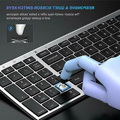 Rechargeable Wireless Keyboard Compact Full