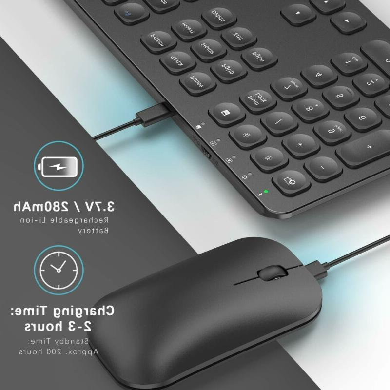 Rechargeable Keyboard Jelly Comb Ultra Slim