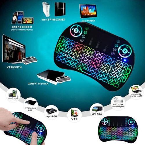 3-color Backlight i8 Wireless Keyboard 2.4GHz Keyboard Remot