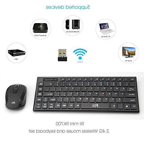 Rii RK700 2.4Ghz Wireless and Combo Multimedia and for PC Laptop,Desktop,Raspberry Pi KODI XBMC Box